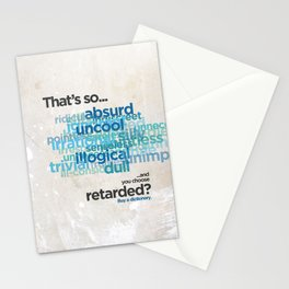 """Buy a Dictionary (""""That's So Retarded"""") Stationery Cards"""