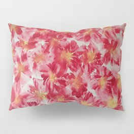 Red Floret Pillow Sham