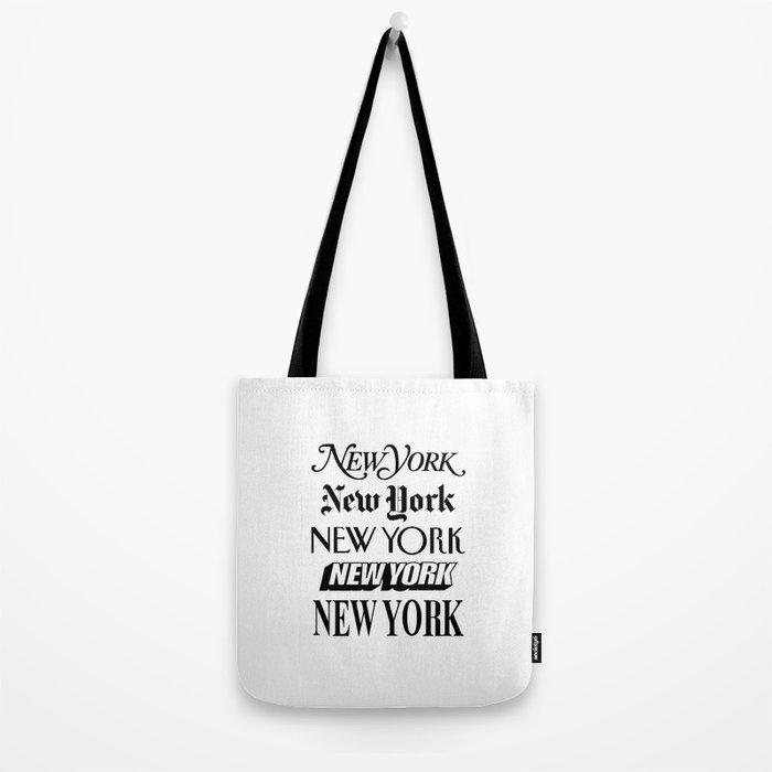 I Heart New York City Black and White New York Poster I Love NYC Design black-white home wall decor Tote Bag