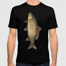 Holy Carp! Mens Fitted Tee SMALL Black