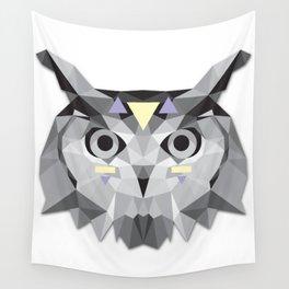 Boho poly owl Wall Tapestry