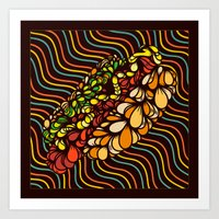 hot dog Art Prints featuring Hot Dog by Maxime Roy