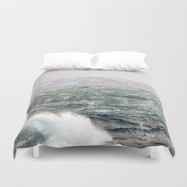The Ocean in Winter Duvet Cover