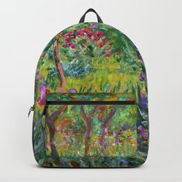 Claude Monet - The Iris Garden At Giverny Backpack