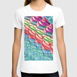 Rainbow Mermaid Pattern T-shirt