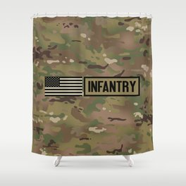 Infantry (Camo) Shower Curtain