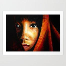 Asian eyes  Art Print
