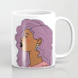 Purple Hair, Black Lips Coffee Mug