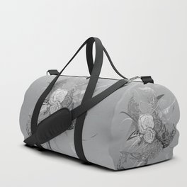 50 Shades of lace Silver Silver Duffle Bag