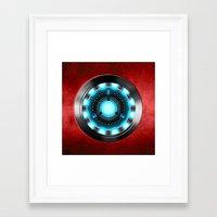 iron man Framed Art Prints featuring Iron Man Iron Man by ThreeBoys