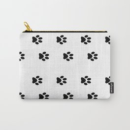 Cat Paws - Cat Lovers Unite! Black and White Cat Art Carry-All Pouch