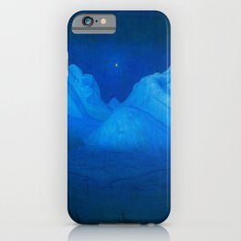 North Star Rising - Winter Night in the Alpine Mountains by Harald Sohlberg iPhone Case