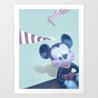mickey Art Prints featuring Mickey? by smooz