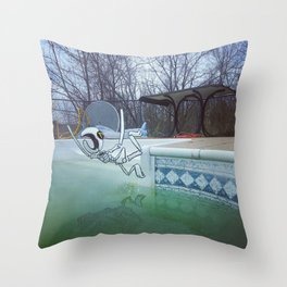 Divin' In Throw Pillow