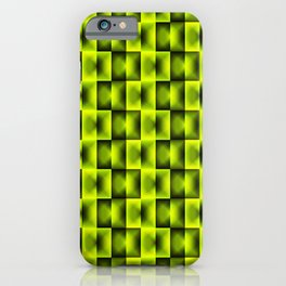 Fashionable large plaids from small yellow intersecting squares in a chess cage. iPhone Case