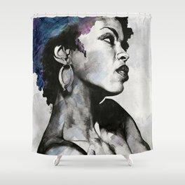 Miseducation: Lauryn Hill tribute portrait Shower Curtain