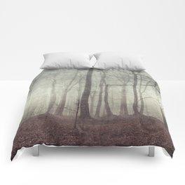 mood scape - mist woodlands Comforters