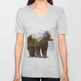 Wild I Shall Stay | Bear Unisex V-Neck