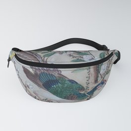 Antique Chinoiserie with Bird Fanny Pack