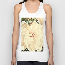 Sandy Pink Roses With Bokeh Unisex Tank Top