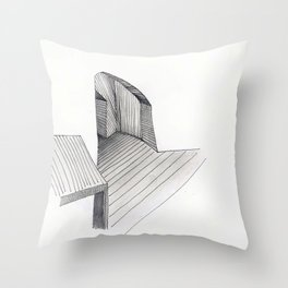 Underground Studio Throw Pillow