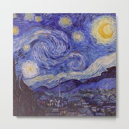 Vincent Van Gogh Starry Night Metal Print