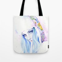 russian Tote Bags featuring Russian winter by Cora-Tiana