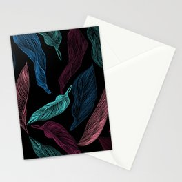 silk leaves Stationery Cards