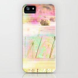Wild Flower Glitch iPhone Case