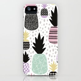 Summer pineapples in pastel color pop iPhone Case