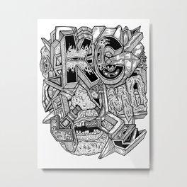 Geometric Mutations: Kansas City, MO Metal Print