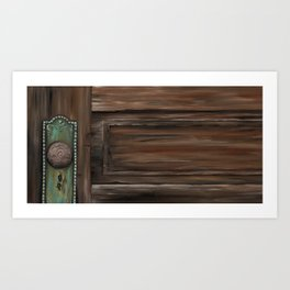 Rustic Wooden Door Art Print
