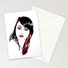 minimal girl 3 Stationery Cards