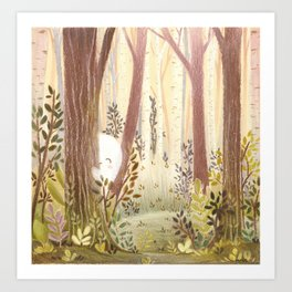 Little ghost in the woods Art Print