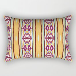 Atwood wine and orange ikat woven pattern Rectangular Pillow
