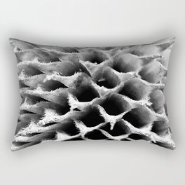 Monochrome Spines Rectangular Pillow