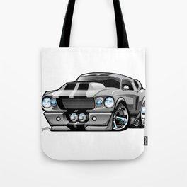 Classic Sixties American Muscle Car Cartoon Tote Bag