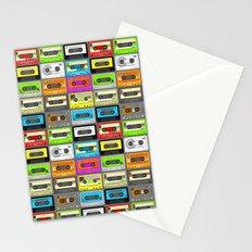 Retro 80s Cassette Tape Pattern Stationery Cards