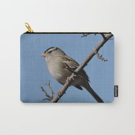 A White-Crowned Sparrow Eyes the Botanic Garden Carry-All Pouch