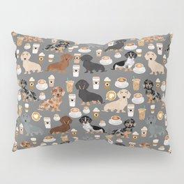 Dachshund coffee lover must have pet gifts dachsie doxie dog weener dog Pillow Sham