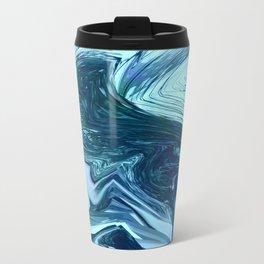 Turquoise + Teal Marble Travel Mug