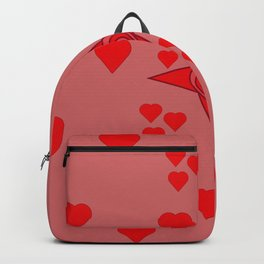 Red hearts Backpack