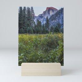Light setting on Half Dome v Mini Art Print