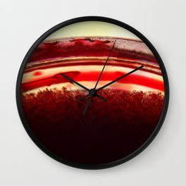 Red Glass Crystals Wall Clock