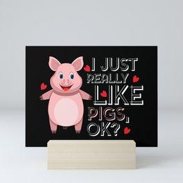 I just really like pigs, okay? Mini Art Print