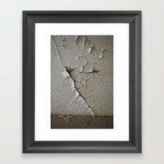 Crack and Peel Framed Art Print