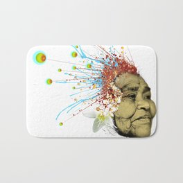 """Gabriela"" of the Kaweskar People - Color Bath Mat"