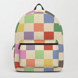 Colorful Checkered Pattern Backpack