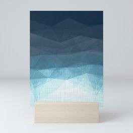 Imperial Sapphire - Geometric Triangles Minimalism Mini Art Print