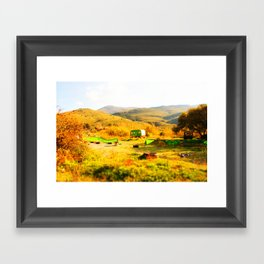 Tilt Shift Trailer Framed Art Print